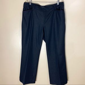 Tahari Woman   Blue Denim Like Trousers 531M6202